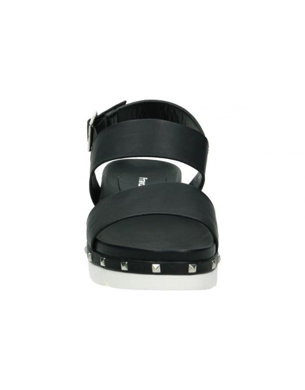 Sandalias para niña planos chk10 frambuesa 01 en plata