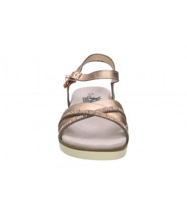 Sandalias para niña chk10 frambuesa 01 dorado
