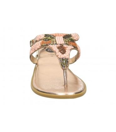Sandalias casual de niña pablosky 834550 color plata