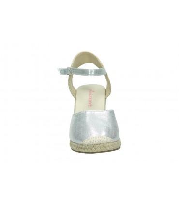 Zapatos para moda joven planos top3 8508 en blanco