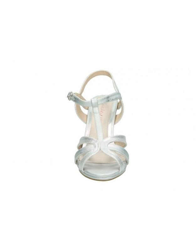 Sandalias para moda joven cuña francesco milano q12-2p en plata