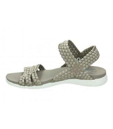 Sandalias casual de moda joven xti 47671 color beige