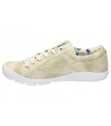 Zapatos para señora planos callaghan 14700 en beige
