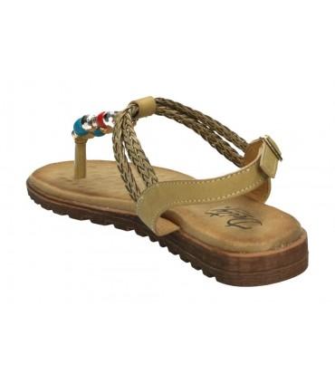 Zapatos color azul de casual fluchos 0142