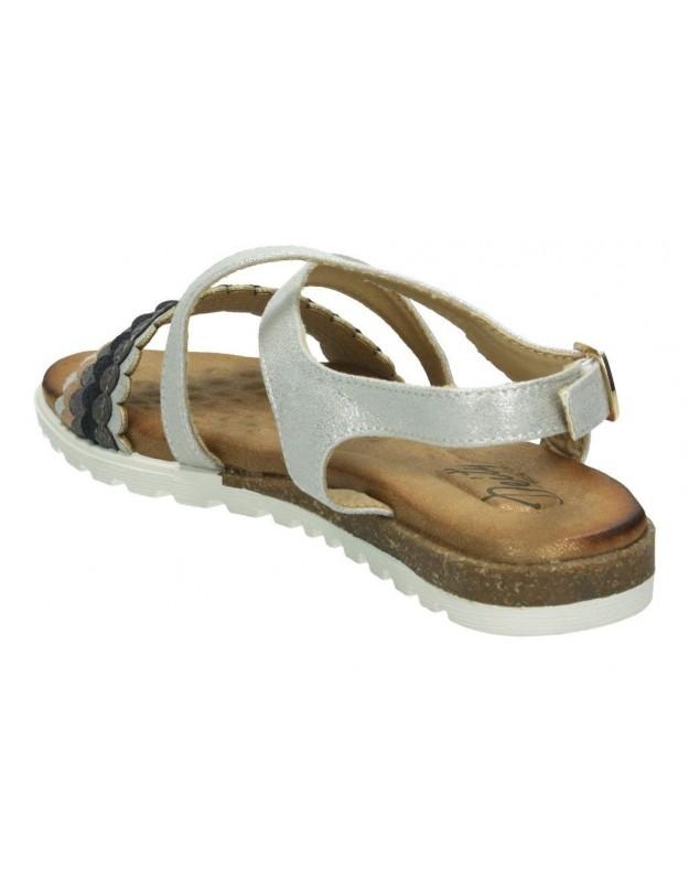 Zapatos para señora cuña fluchos 0186 en plata