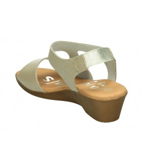 Sandalias para señora planos joma malis en azul