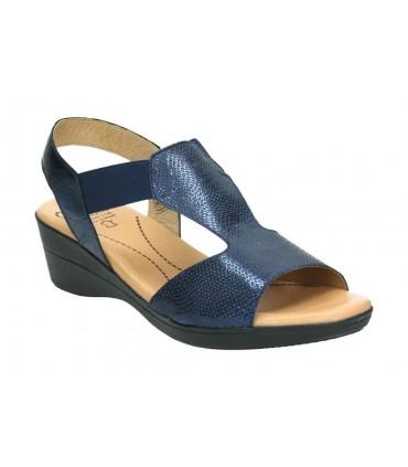 Sandalias para moda joven planos kangaroos 708-22 en plata