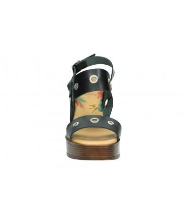 Sandalias para señora tacón d´angela doz12732-m en dorado