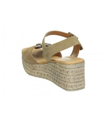 Sandalias casual de señora pitillos 2745 color plata