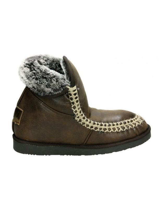 Zapatos para señora cuña kichua 320 en azul
