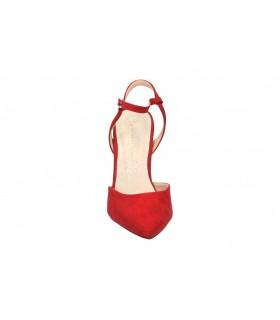 Zapatos color rojo de casual dr.martens 1461