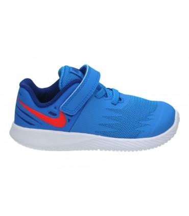 Deportivas casual de niño adidas f35702 color azul