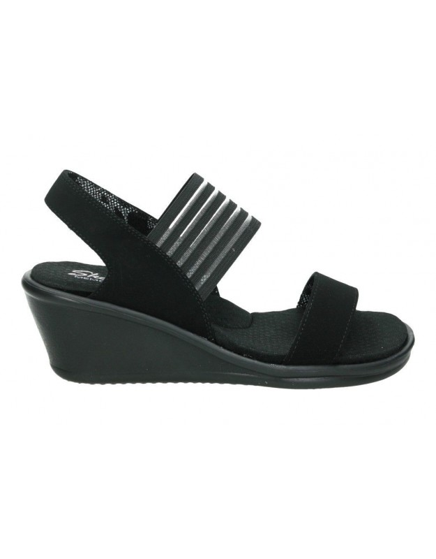 Sandalias Señora 32383 Para Negro Bbk Skechers T1cKlJF