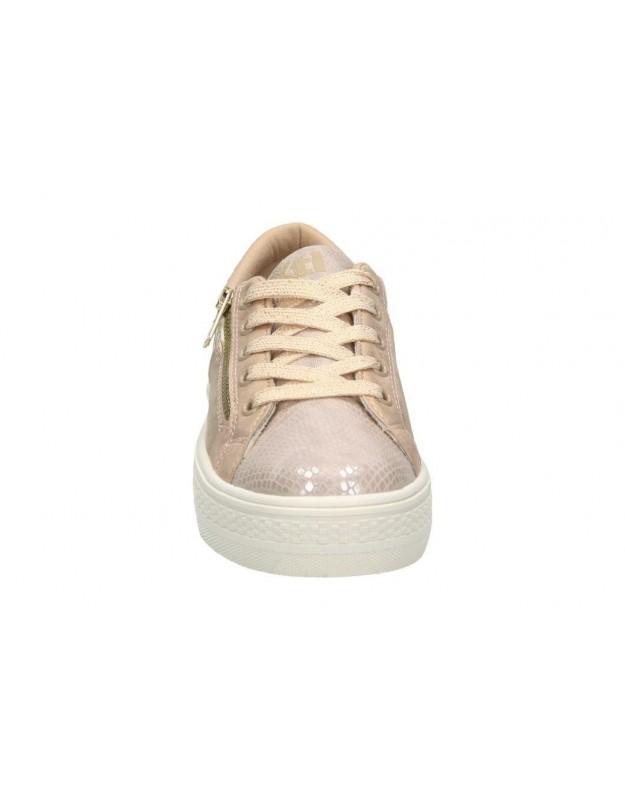 Zapatos para señora planos geox d642sc en blanco