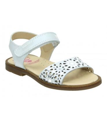 Sandalias casual de niña lrk 4407 color blanco