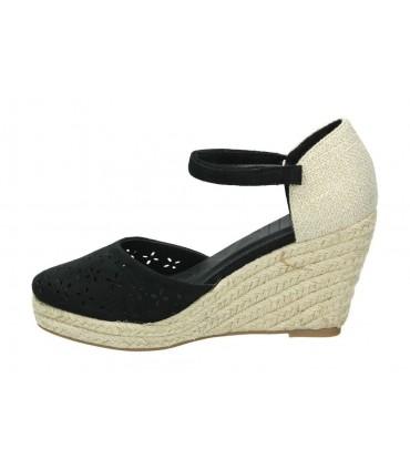 Sandalias para moda joven tacón foot gear 10320 en negro