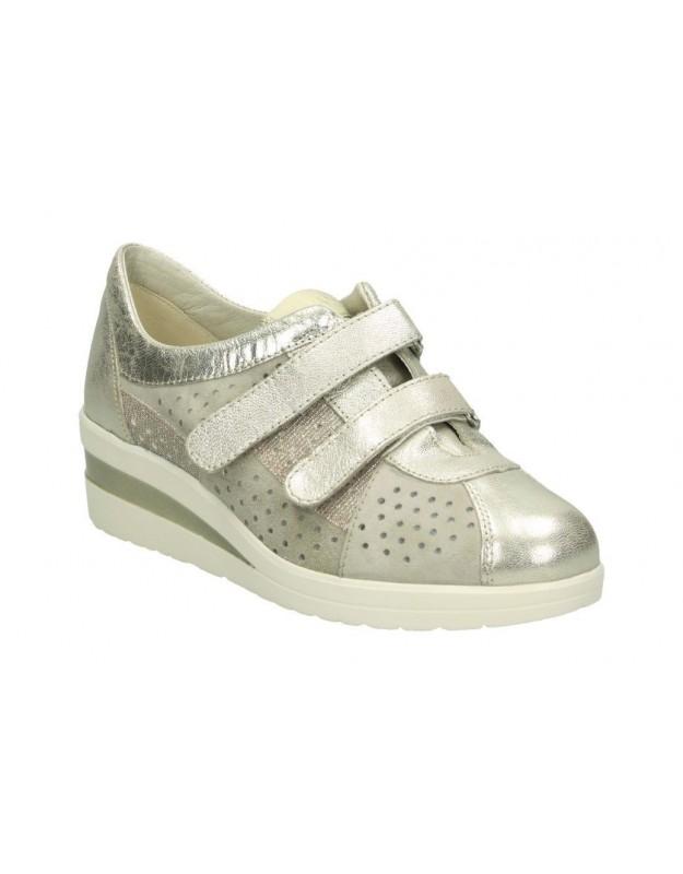Sandalias color plata de casual d´angela dws15642-m