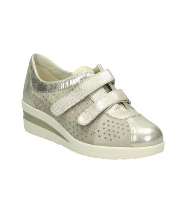 Sandalias color plata de casual d´angela dws15642-m