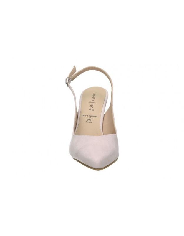 Sandalias para moda joven cuña maria mare 67430 en amarillo