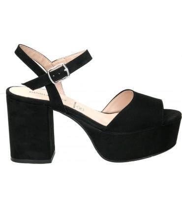 Zapatos para señora tacón daniela vega 1615 en negro