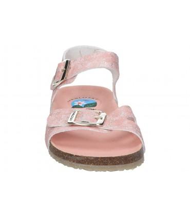 Zapatos para señora planos fluchos f0354 en rojo