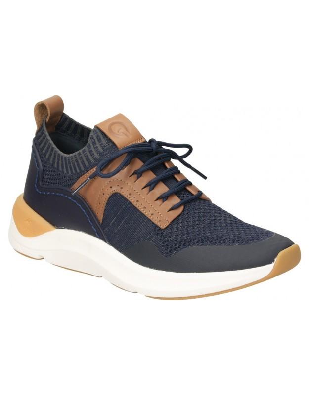 Zapatos para caballero planos skechers 65877-nvy en azul