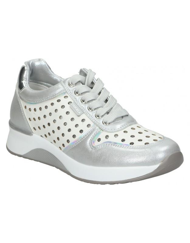 Zapatos para señora planos doctor cutillas 89513 en gris