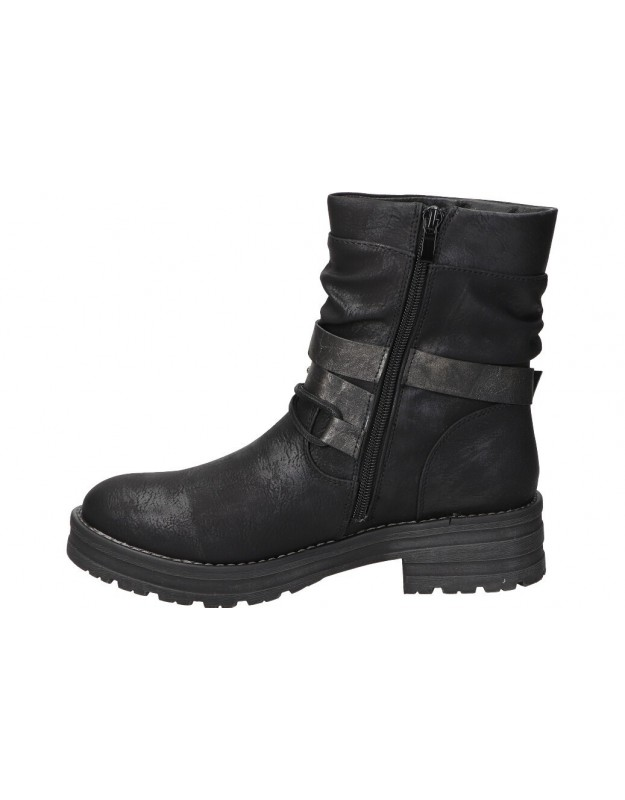 Botines casual de moda joven carmela 66962. color negro
