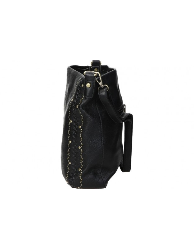 Mochila casual de señora d. jones 6269-1 color negro med: 21cm x 25cm x 11cm
