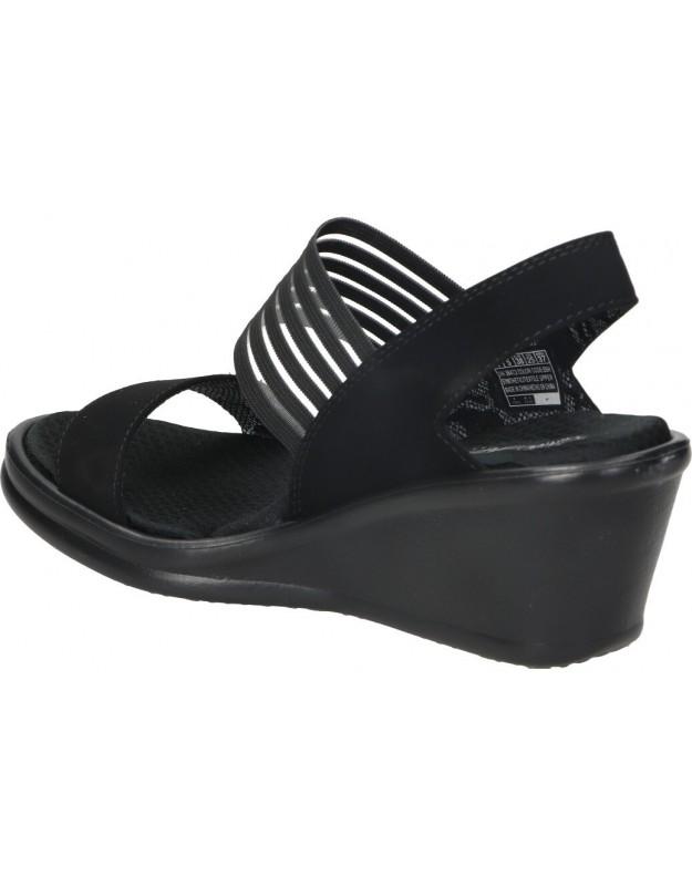 Piscinas casual para mujer skechers MEDITATION - ROCK CROWN 31560-bkmt color negro