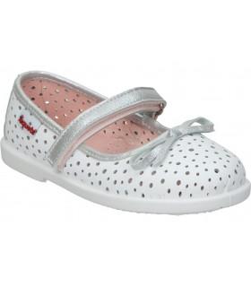 Sandalias casual de moda joven la strada 1901132 color blanco