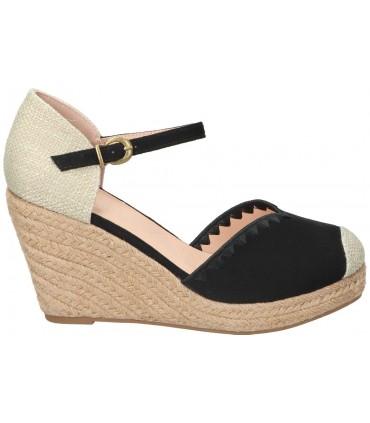 Sandalias casual de señora skechers 32383-bbk color negro