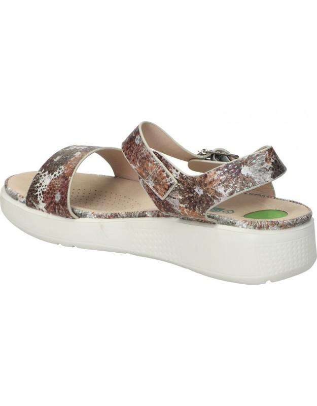 Sandalias casual de señora skechers 163052-gycl color gris