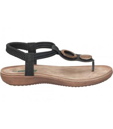 Sandalias casual de moda joven skechers 33473-bbk color negro