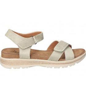 Nicoboco beige croco sandalias para señora