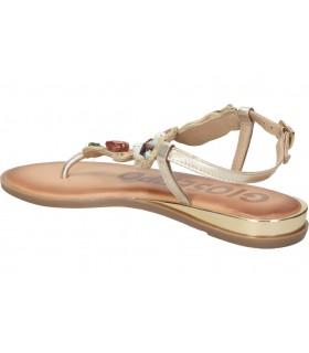 Sandalias para señora planos porronet 2603 en marron
