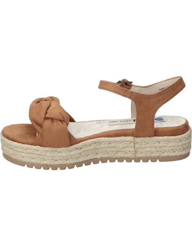 Sandalias para señora planos marila 8110/86/24 en blanco