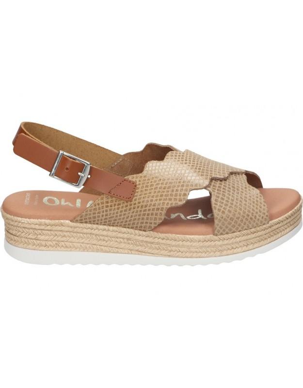 Sandalias para moda joven cuña yokono cadiz-014 en negro