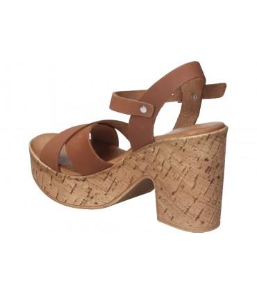 Zapatos para caballero planos fluchos f0966 en marron