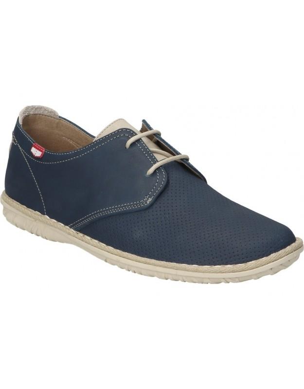 Zapatos para caballero planos on foot 8551 en marino