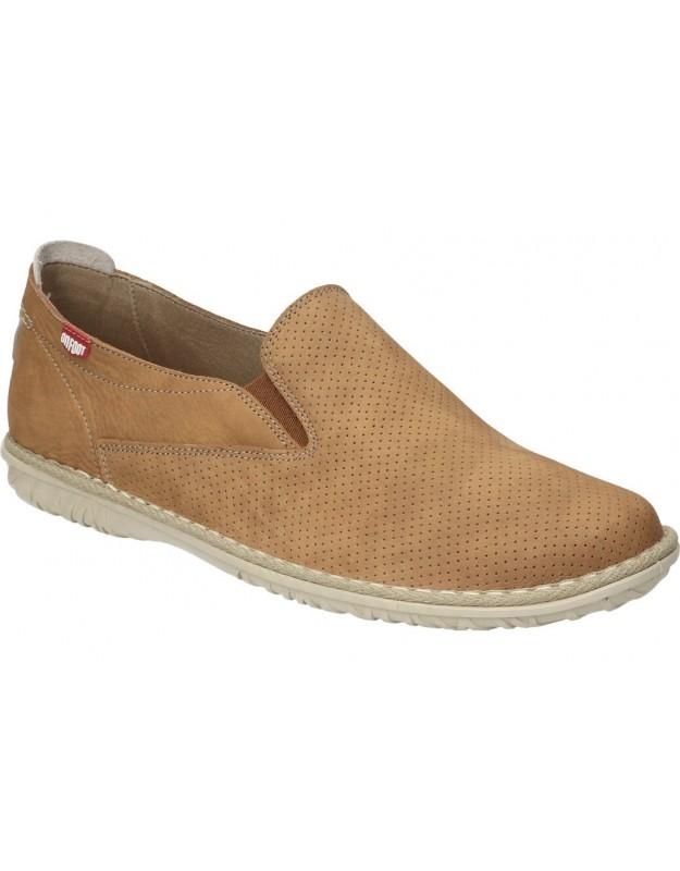 Zapatillas piel casual para mujer carmela 67592 en marron
