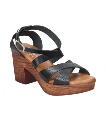 Zapatos para señora planos pitillos 2102 en negro