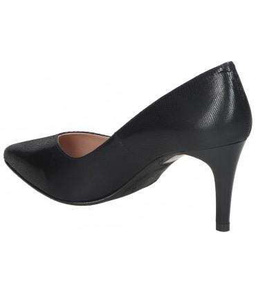 Zapatos para señora tacón pitillos 6364 en negro