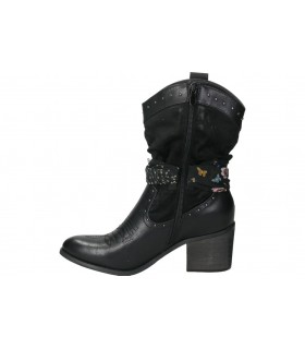Botas skechers 144152-blk negro para señora