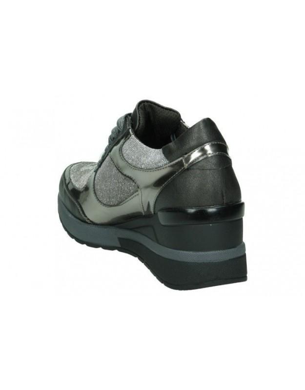 Zapatos para señora cuña pitillos 1131 en dorado